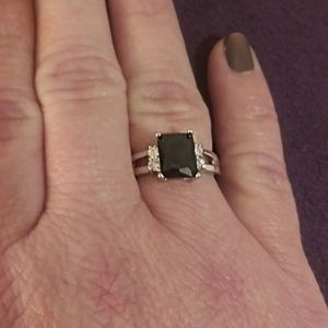 3/$20 Faux Black Onyx and Silver Ring
